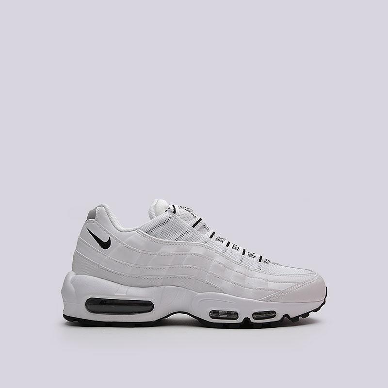 Кроссовки Nike Air max 95Кроссовки lifestyle<br>Кожа, текстиль, резина<br><br>Цвет: Белый, черный<br>Размеры US: 9;10.5;11;11.5;13<br>Пол: Мужской