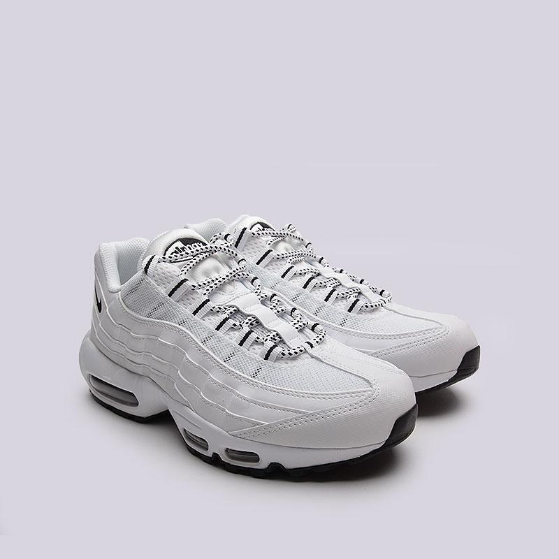 b28db5222993 мужские белые, черные кроссовки nike air max 95 609048-109 - цена, описание