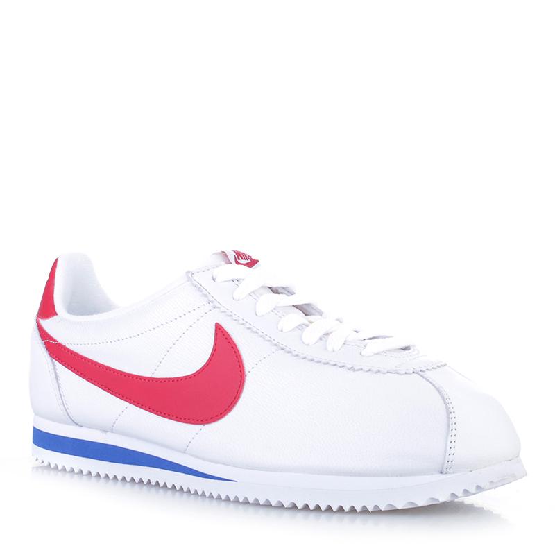 Купить мужские белые  кроссовки nike classic cortez premium qs в магазинах Streetball изображение - 1 картинки