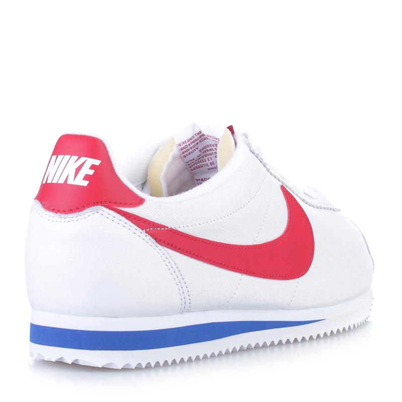 Купить мужские белые  кроссовки nike classic cortez premium qs в магазинах Streetball изображение - 2 картинки