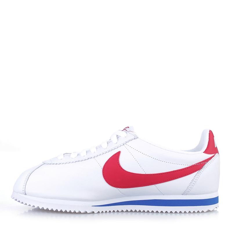 Купить мужские белые  кроссовки nike classic cortez premium qs в магазинах Streetball изображение - 3 картинки