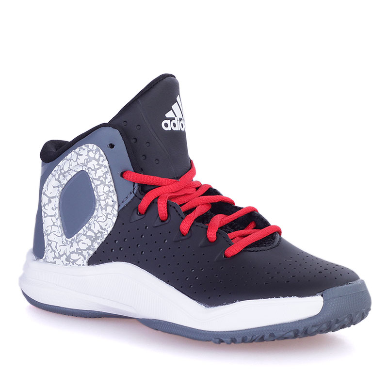 Кроссовки Adidas D Rose 5Кроссовки баскетбольные<br>Текстиль, синтетика, резина<br><br>Цвет: Черный, серый, белый<br>Размеры EUR: 29<br>Пол: Детский