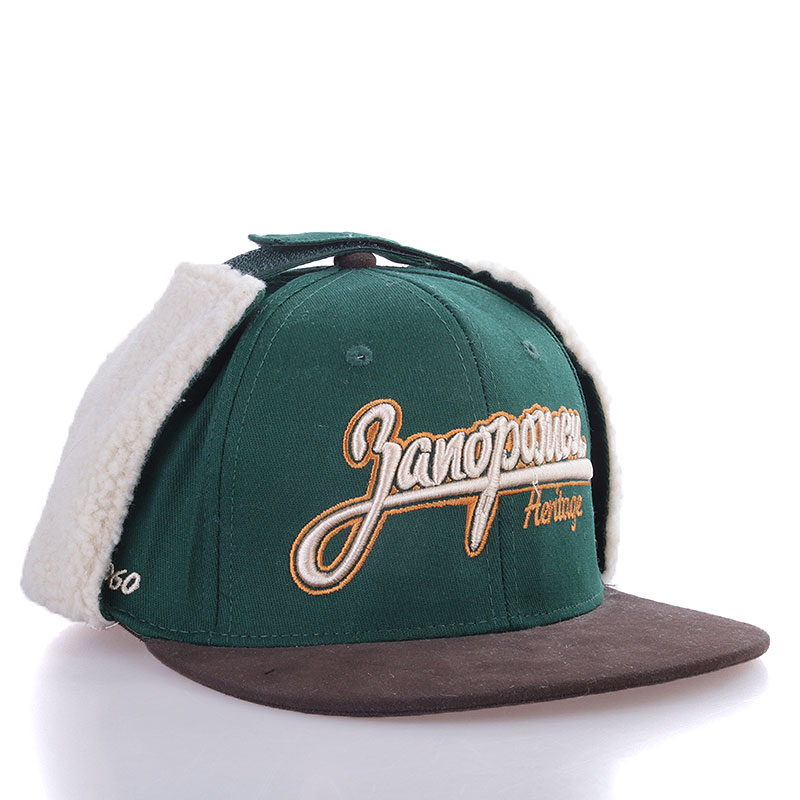 Кепка Dog-Ears Snapback Embroidery-greenКепки<br>Хлопок<br><br>Цвет: Зеленый, коричневый<br>Размеры : L/XL