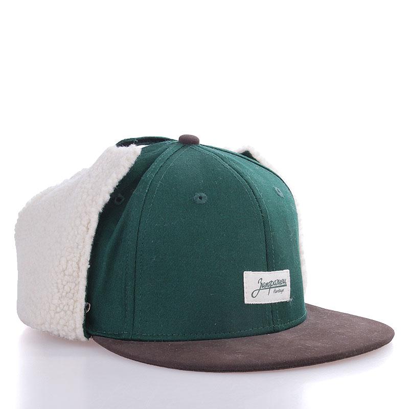 Кепка Dog-Ears Snapback Patch1-greenКепки<br>Хлопок<br><br>Цвет: Зеленый, коричневый<br>Размеры : S/M