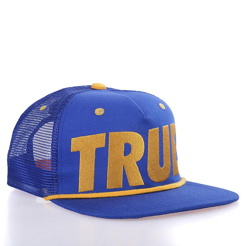 Кепка True Tr-navyКепки<br>Акрил<br><br>Цвет: Синий, жёлтый<br>Размеры : OS