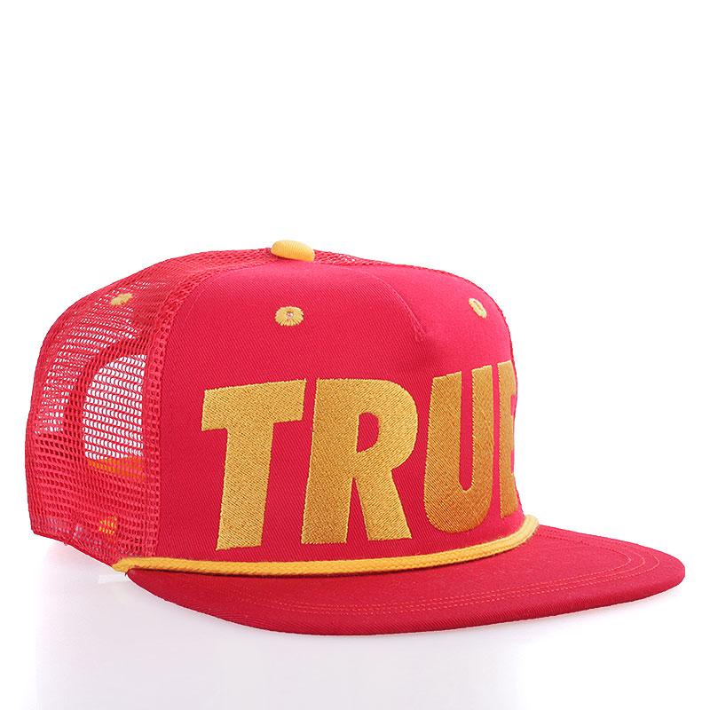 Кепка True Tr-redКепки<br>Акрил<br><br>Цвет: Красный, жёлтый<br>Размеры : OS