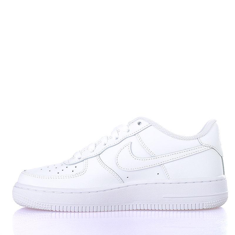 Купить детские белые  кроссовки nike air force 1 (gs) в магазинах Streetball изображение - 3 картинки