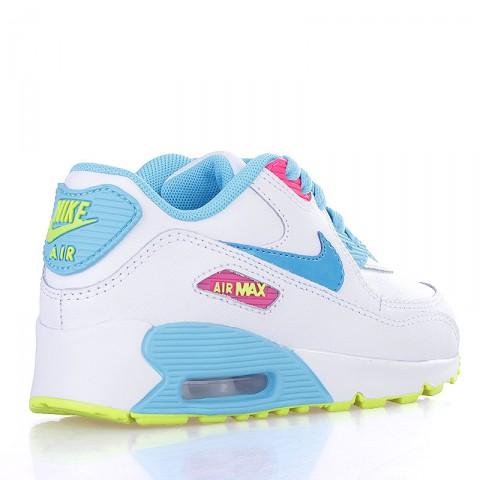 детские белые, голубые, жёлтые  кроссовки nike air max 90 2007 (ps) 345018-123 - цена, описание, фото 2