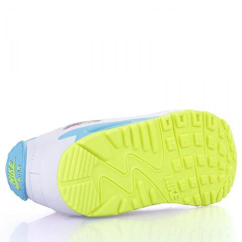 детские белые, голубые, жёлтые  кроссовки nike air max 90 2007 (ps) 345018-123 - цена, описание, фото 4