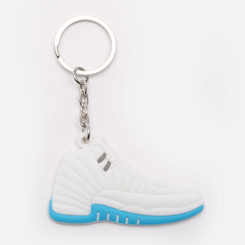 белый, голубой  брелок без бренда aj 12 №2-AJ12-wht - цена, описание, фото 1