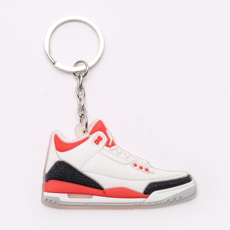 белый, черный, красный  брелок без бренда aj 3 №28-AJ3-wht/red - цена, описание, фото 1