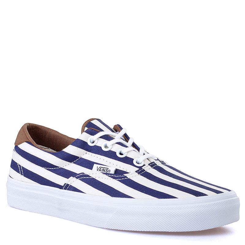 Купить мужские белые, синие  кеды vans era 59 в магазинах Streetball изображение - 1 картинки