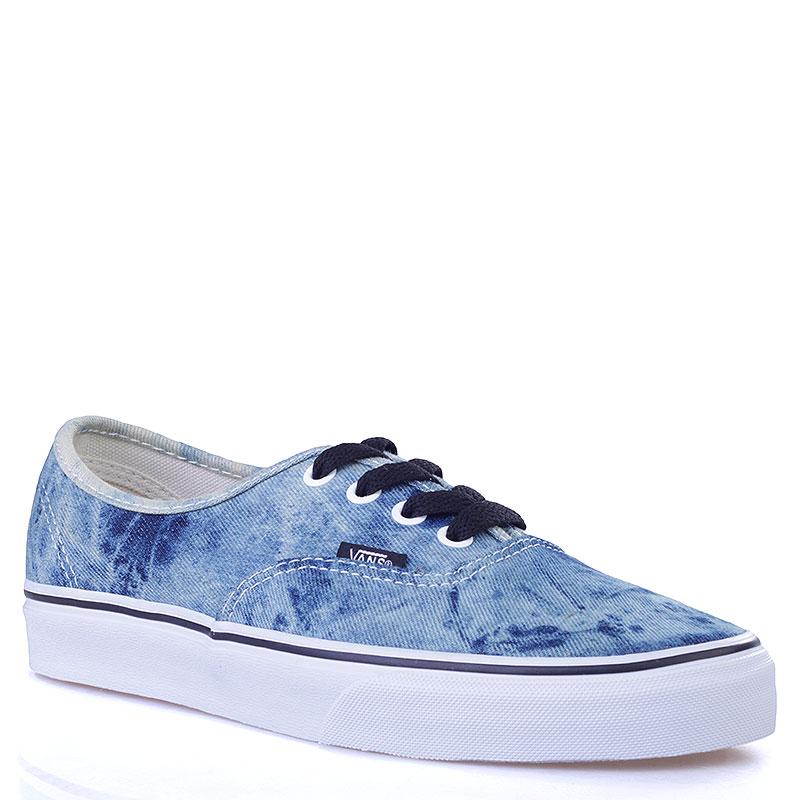Купить мужские синие, белые  кеды vans authentic в магазинах Streetball изображение - 1 картинки