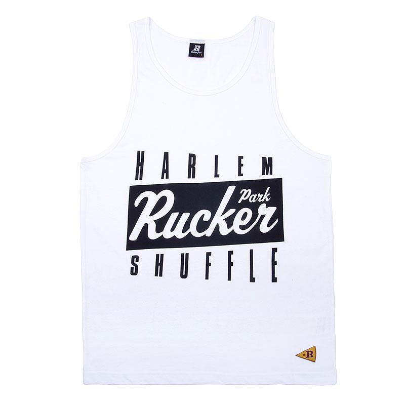 Майка Rucker park Harlem Shuffle TanktopБезрукавки<br>Хлопок<br><br>Цвет: Белый<br>Размеры : S<br>Пол: Мужской