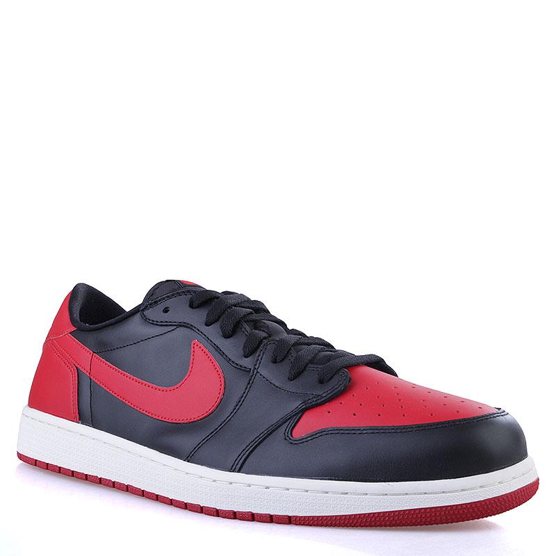 Кроссовки Air Jordan I Retro Low OGКроссовки lifestyle<br>Кожа, текстиль, синтетика<br><br>Цвет: Черный, красный, белый<br>Размеры US: 17<br>Пол: Мужской
