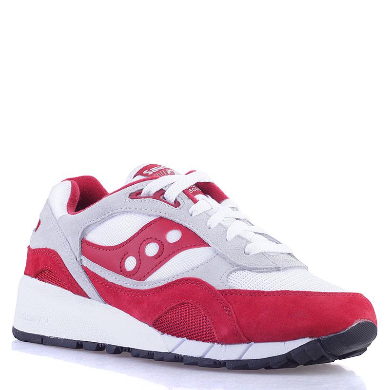 Купить мужские красные, белые, серые  кроссовки  saucony shadow 6000 в магазинах Streetball изображение - 1 картинки