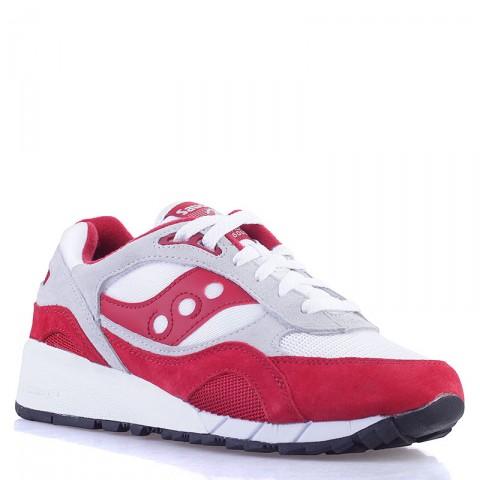 Купить мужские красные, белые, серые  кроссовки  saucony shadow 6000 в магазинах Streetball - изображение 1 картинки