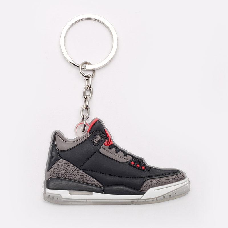 черный, серый  брелок без бренда aj 3 №19-AJ3-blk/grey - цена, описание, фото 1