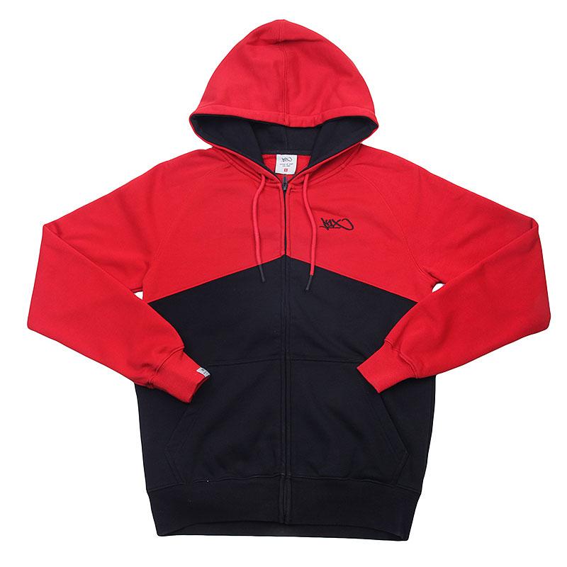 Толстовка K1X Fullcourt Zipper HoodyТолстовки свитера<br>Хлопок, полиэстер<br><br>Цвет: Красный, черный<br>Размеры US: M