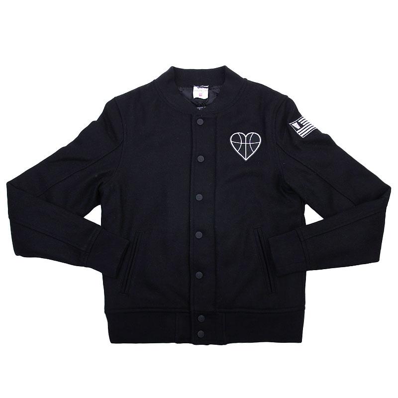Куртка K1x wmns Chapter Varsity JacketКуртки, пуховики<br>Шерсть, полиэстер<br><br>Цвет: Черный<br>Размеры US: L<br>Пол: Женский