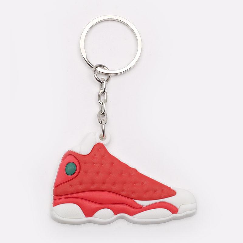 красный, белый  брелок без бренда aj 13 №69-AJ13-red - цена, описание, фото 1