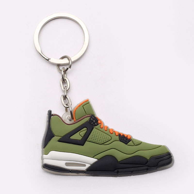 зеленый, черный  брелок без бренда aj 4 №7-AJ4-green - цена, описание, фото 1