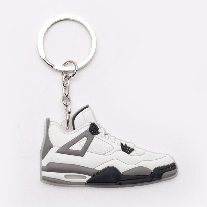 серый, белый  брелок без бренда aj 4 №16-AJ4-wht/grey - цена, описание, фото 1