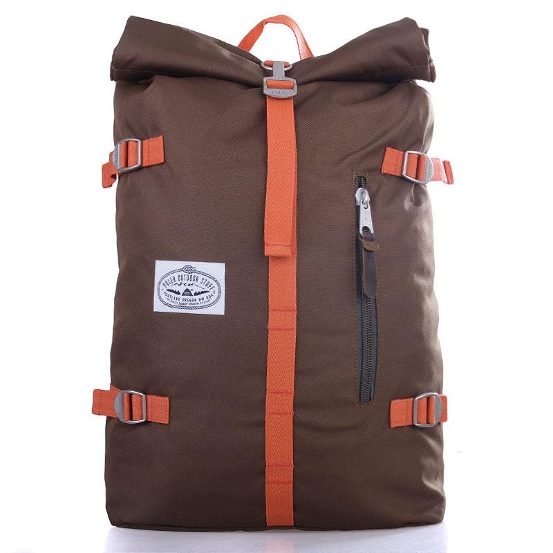 Рюкзак Poler The Rolltop PackСумки, рюкзаки<br>Полиэстер, кожа<br><br>Цвет: Коричневый, оранжевый, зелёный<br>Размеры : OS