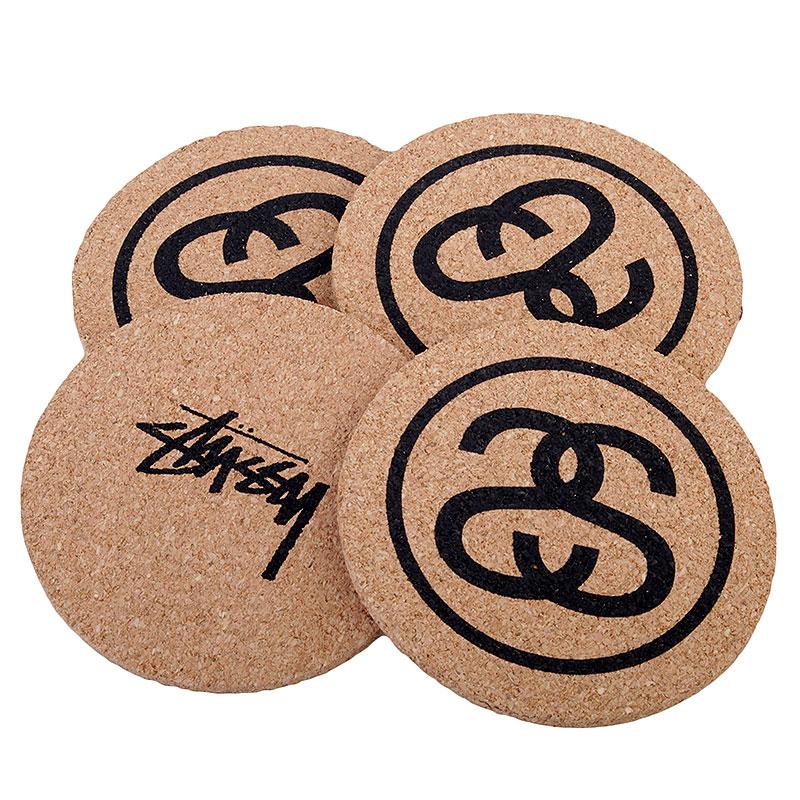 Купить коричневые  подставки stussy ss link coasters в магазинах Streetball изображение - 3 картинки