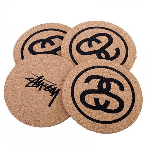 Купить коричневые  подставки stussy ss link coasters в магазинах Streetball - изображение 3 картинки