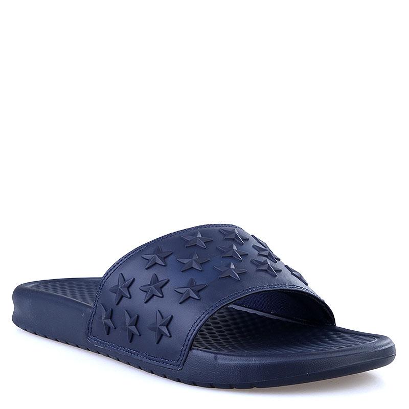 мужские синие  сланцы nike benassi jdi qs 807909-444 - цена, описание, фото 1