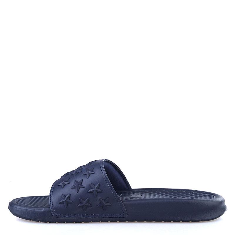 мужские синие  сланцы nike benassi jdi qs 807909-444 - цена, описание, фото 3