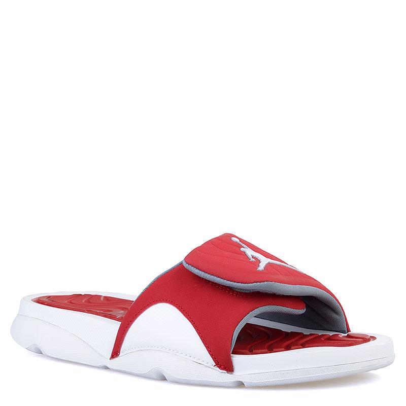 Купить мужские красные, белые  сланцы jordan hydro iv в магазинах Streetball изображение - 1 картинки