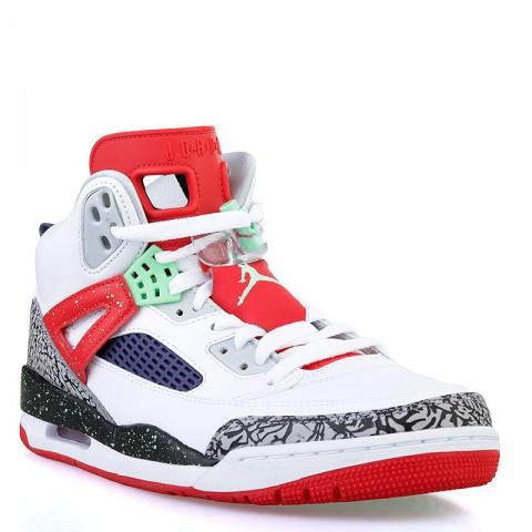 мужские белые, красные, салатовые  кроссовки jordan spizike 315371-132 - цена, описание, фото 1
