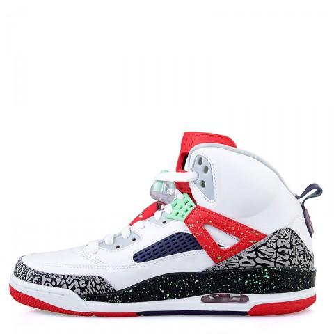 мужские белые, красные, салатовые  кроссовки jordan spizike 315371-132 - цена, описание, фото 3