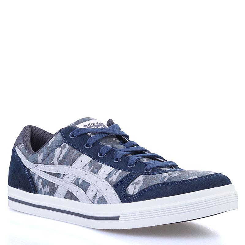 Купить мужские синие, серые  кроссовки onitsuka tiger aaron в магазинах Streetball изображение - 1 картинки