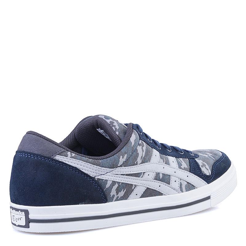 Купить мужские синие, серые  кроссовки onitsuka tiger aaron в магазинах Streetball изображение - 2 картинки