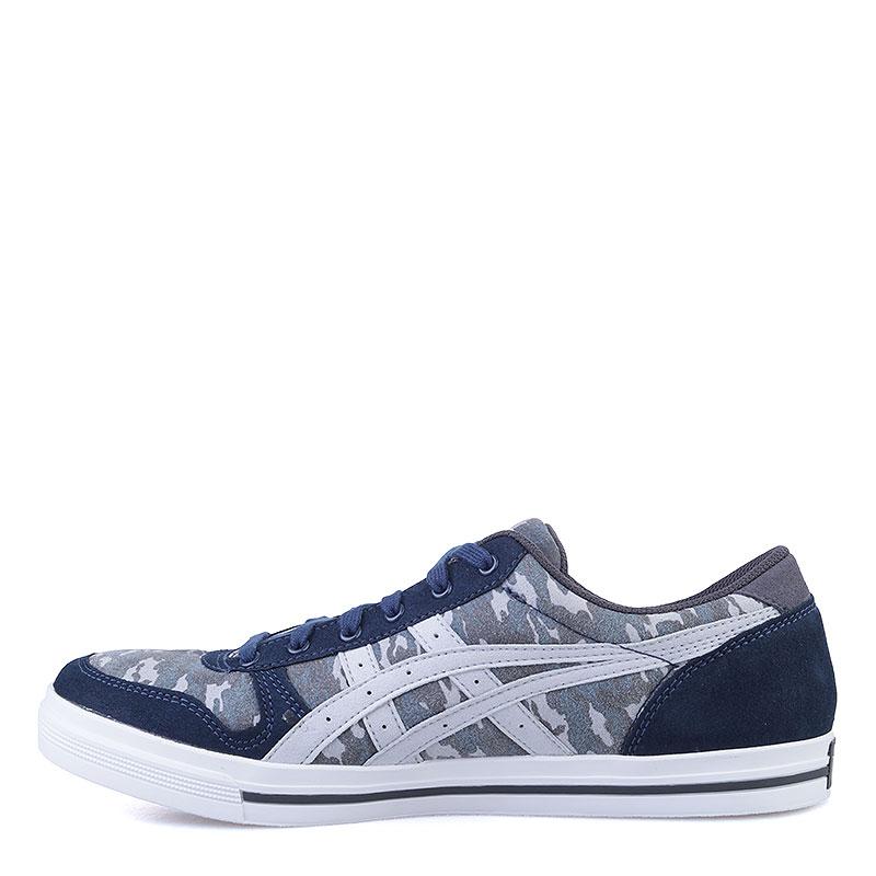 Купить мужские синие, серые  кроссовки onitsuka tiger aaron в магазинах Streetball изображение - 3 картинки