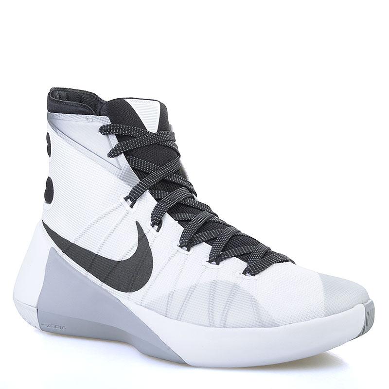 мужские серые, белые, черные  кроссовки nike hyperdunk 2015 749561-100 - цена, описание, фото 1