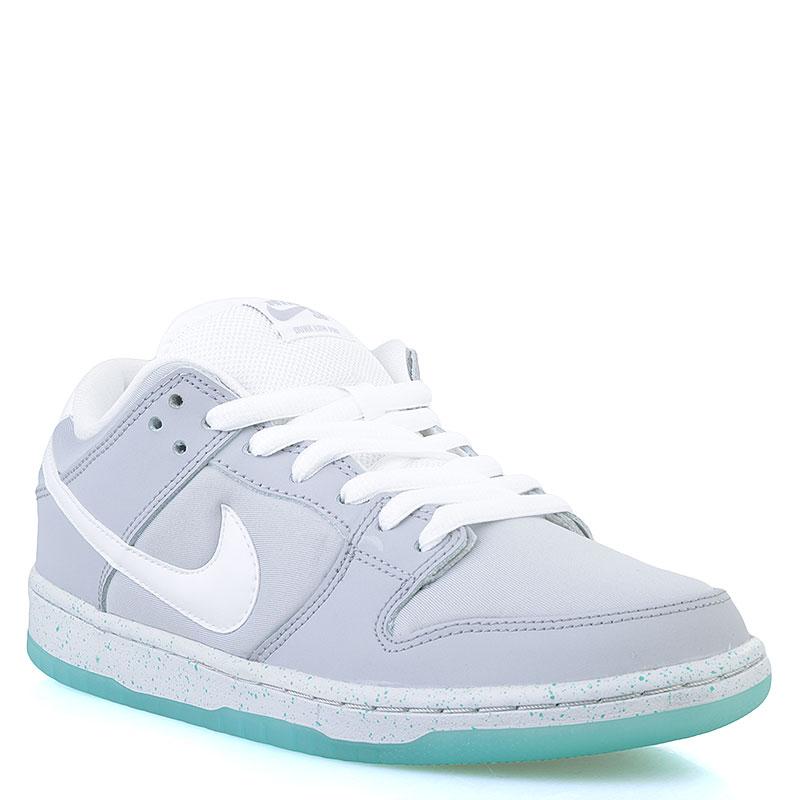 Кроссовки  Nike SB Dunk Low Premium SBКроссовки lifestyle<br>Кожа, текстиль, синтетика<br><br>Цвет: Серый, белый, мятный<br>Размеры US: 8<br>Пол: Мужской