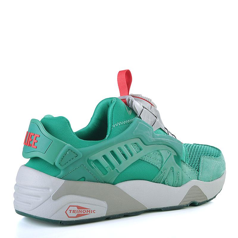 Купить мужские зелёные, серые  кроссовки puma disc x trinomic x alife в магазинах Streetball изображение - 2 картинки