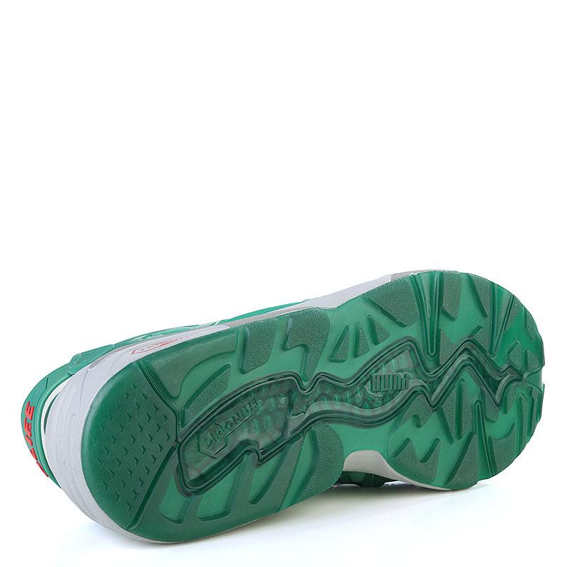 мужские зелёные, серые  кроссовки puma disc x trinomic x alife 35773701 - цена, описание, фото 4