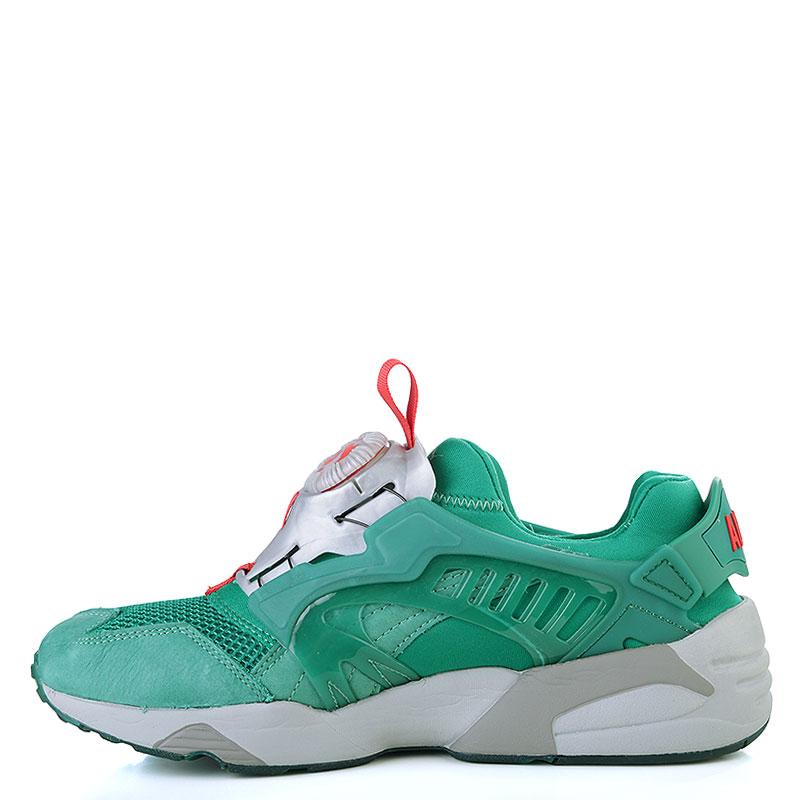 Купить мужские зелёные, серые  кроссовки puma disc x trinomic x alife в магазинах Streetball изображение - 3 картинки