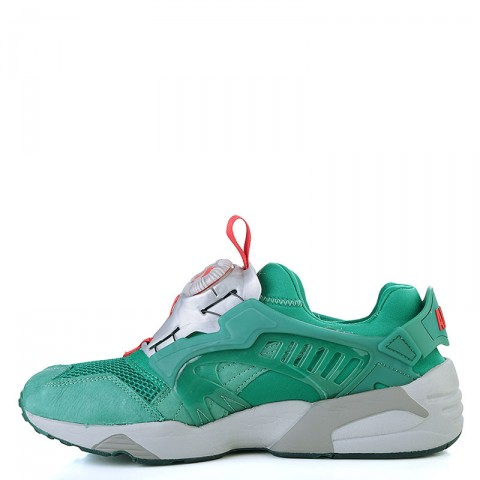 мужские зелёные, серые  кроссовки puma disc x trinomic x alife 35773701 - цена, описание, фото 3