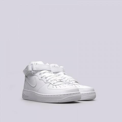 Купить женские белые  кроссовки nike wmns air force 1 mid `07 le в магазинах Streetball - изображение 4 картинки