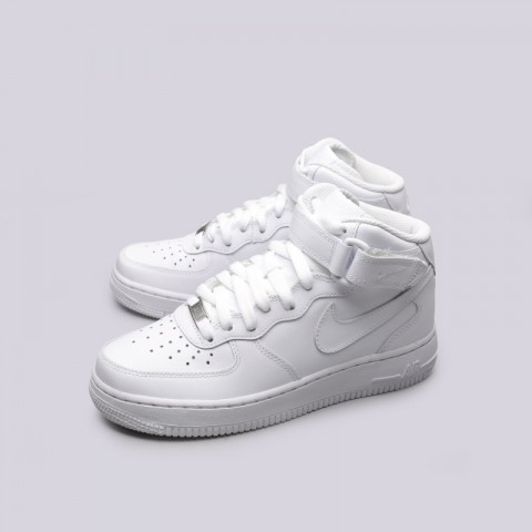 Купить женские белые  кроссовки nike wmns air force 1 mid `07 le в магазинах Streetball - изображение 6 картинки