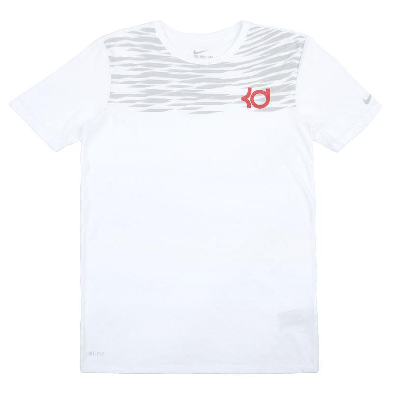 Футболка Nike sportswear KD BlockingФутболки<br>Хлопок, полиэстер<br><br>Цвет: Белый<br>Размеры US: XL