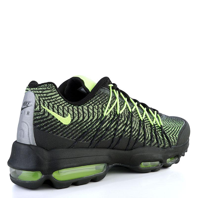 0e967fba мужские черные, зеленые кроссовки nike air max 95 ultra jcrd 749771-007 -  цена