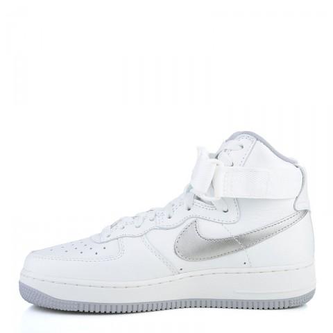 мужские белые, серые  кроссовки nike air force 1 hi retro qs 743546-101 - цена, описание, фото 3