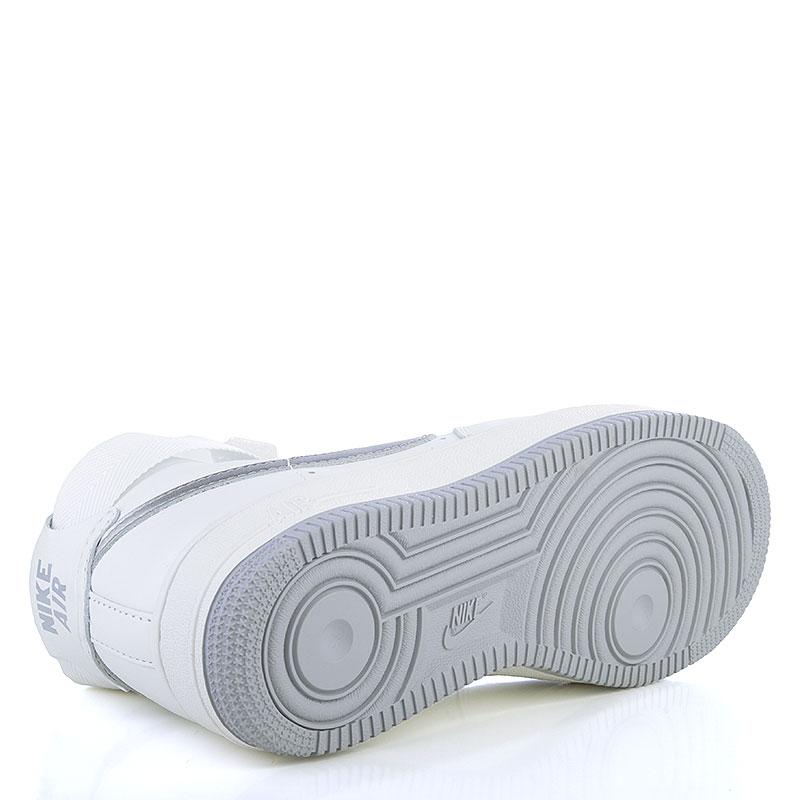 Купить мужские белые, серые  кроссовки nike air force 1 hi retro qs в магазинах Streetball изображение - 4 картинки